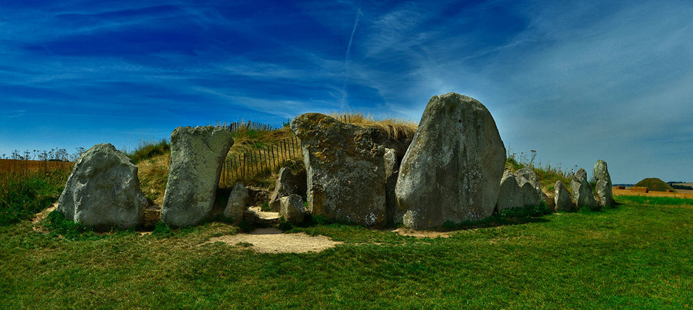 West Kennet Long Barrow, Wiltshire.