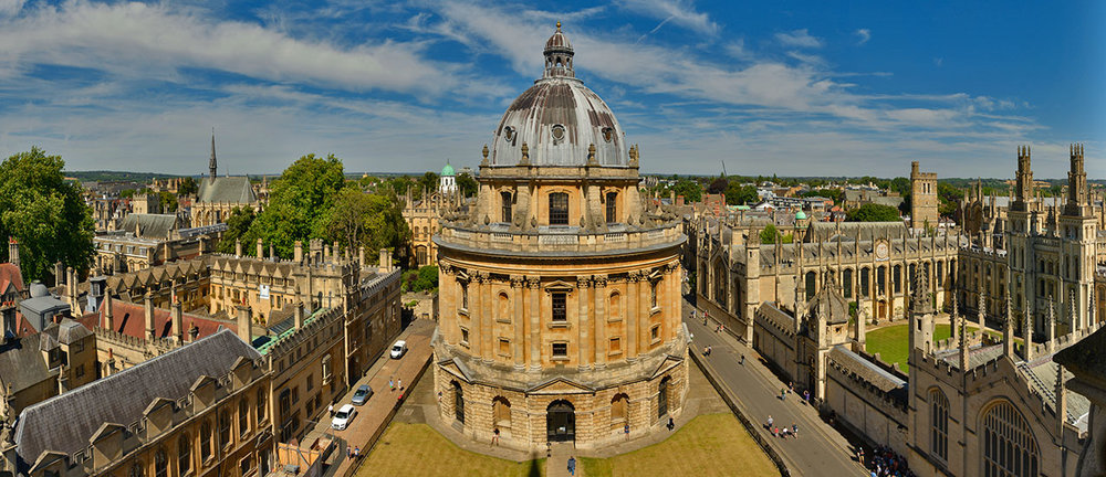 Panorama of Radcliffe Square, Oxford.