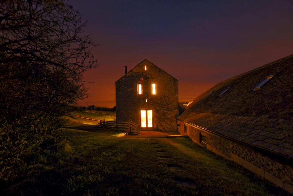 Oxfordshire barn by night.