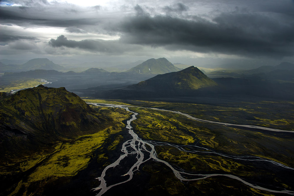 Typical Icelandic volcanic landscape