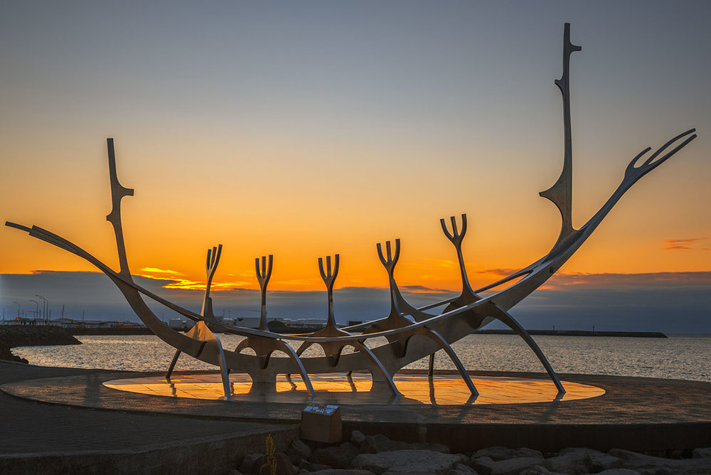 Sun Voyage sculpture, Reykjavik