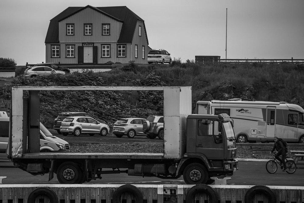 Transparent truck, Stykkisholmur