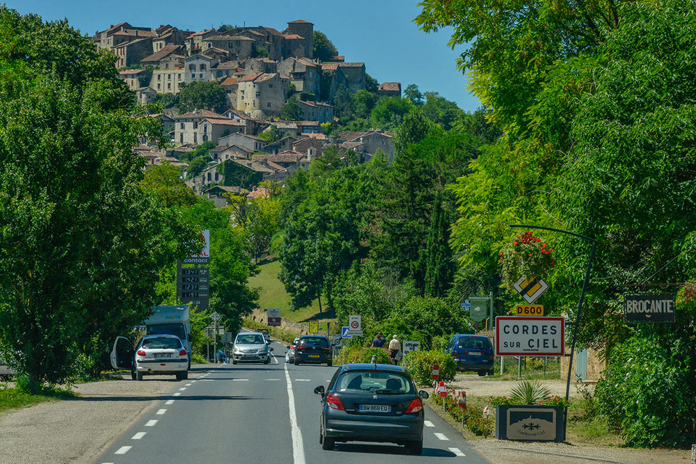 The view of Cordes from the D600