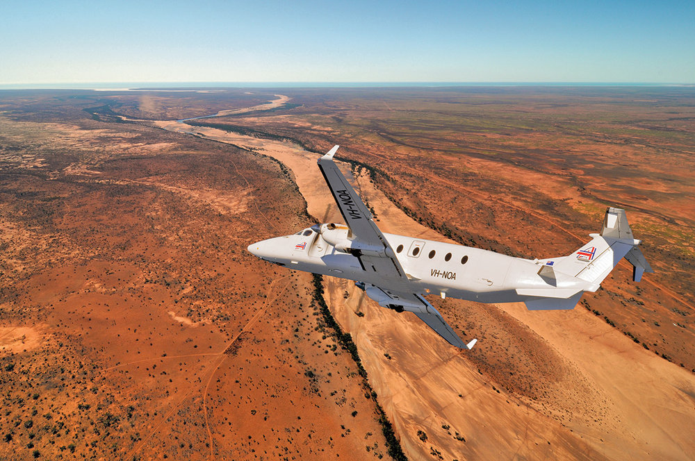 B1900D from Ad Astral Aviation over the outback, Western Australia