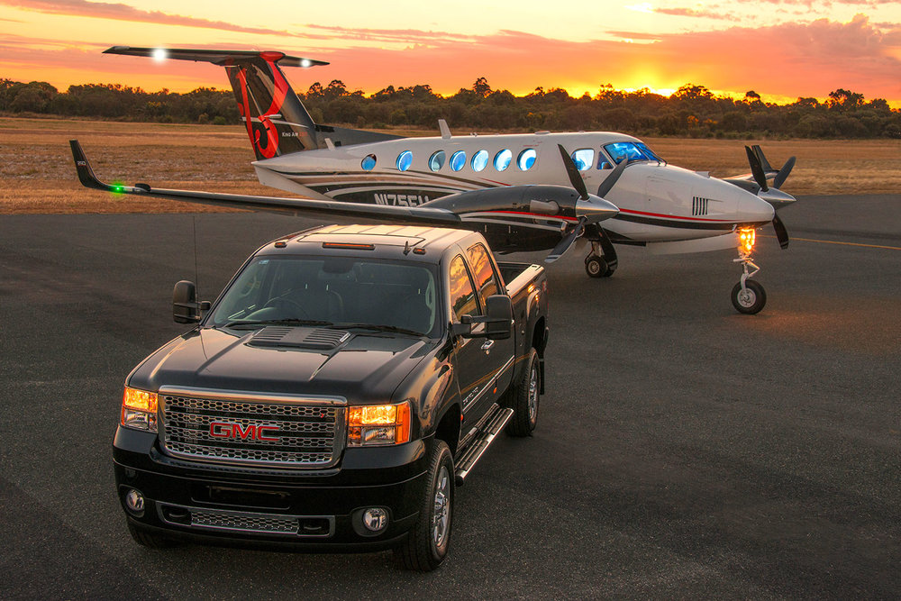 New King Air and GMC truck