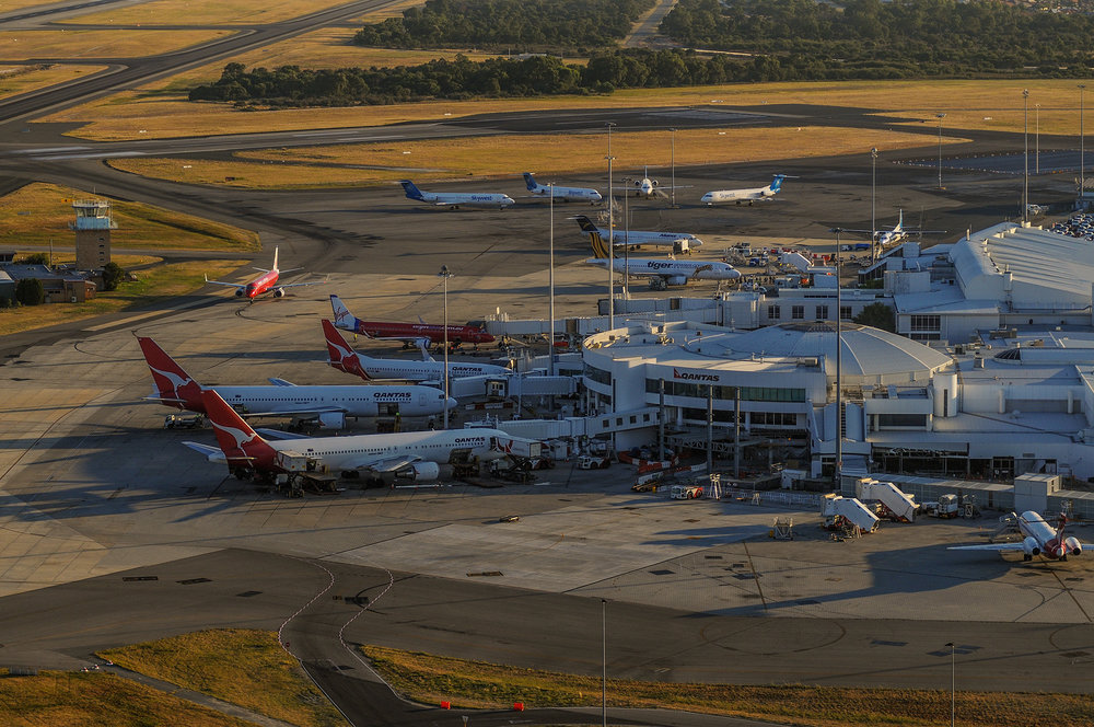 Perth airport overview, WA
