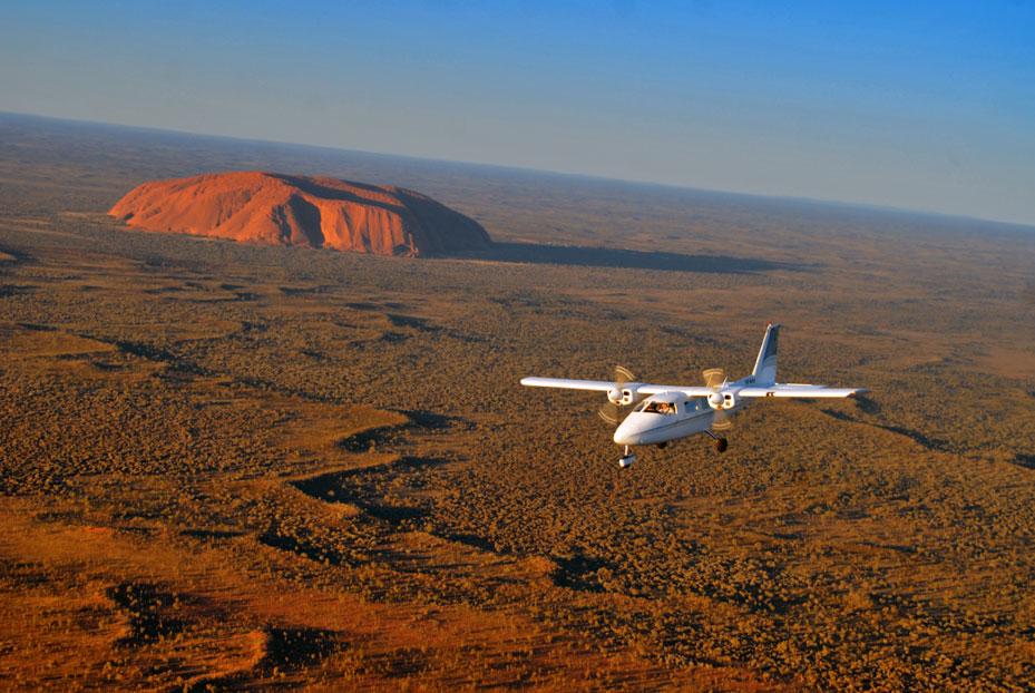 Partenavia over Uluru