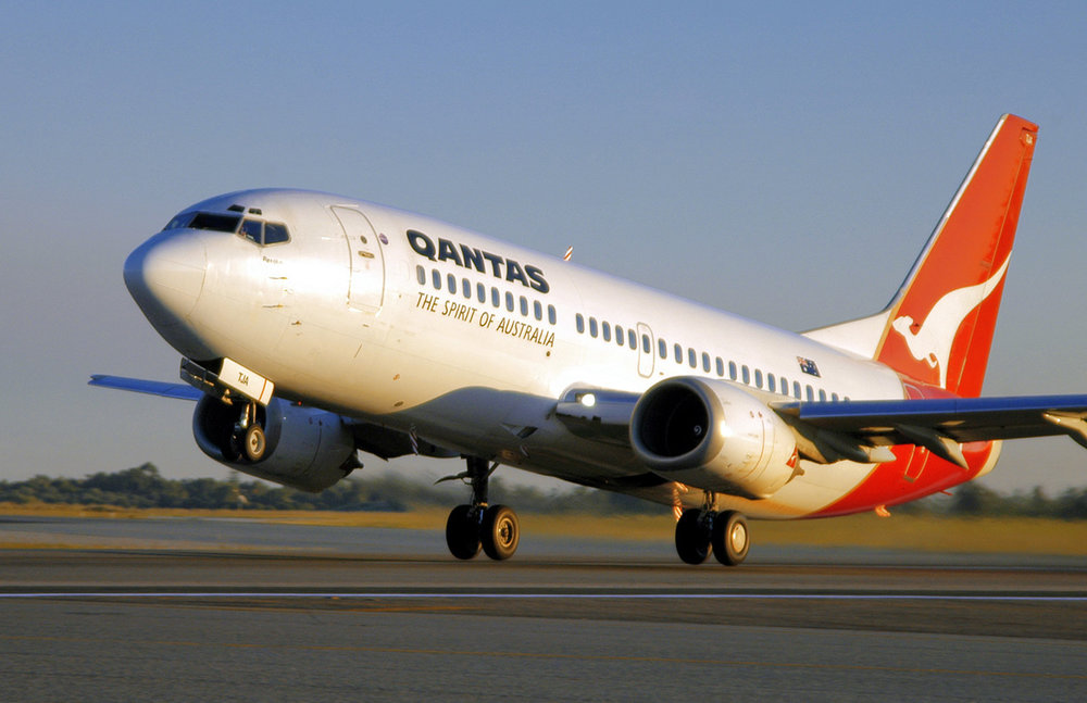 Qantas Boeing 737 at rotation