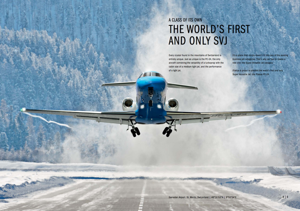 Page spread from the PC24 pre-launch marketing book.