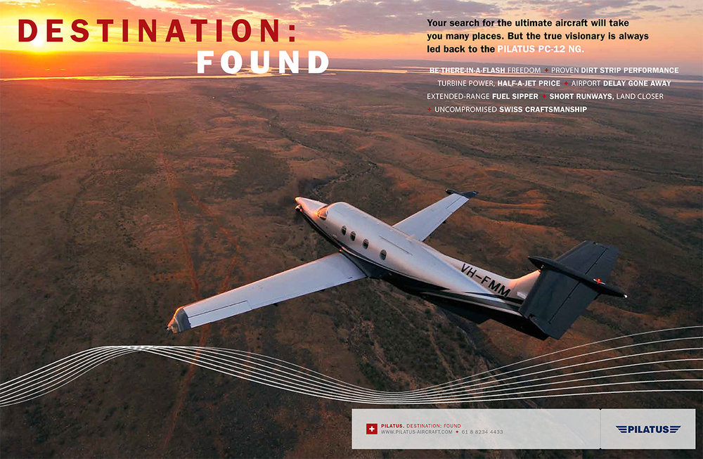 Double page spread ad in Australia's RM Williams magazine