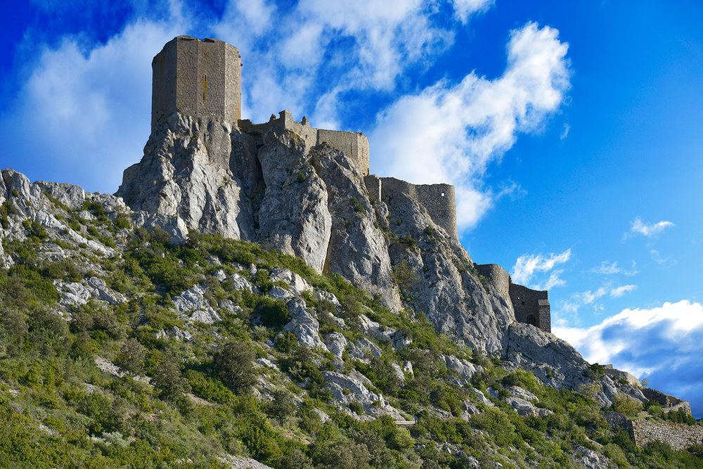 Chateau Queribus was the last hiding place for Cathar followers.