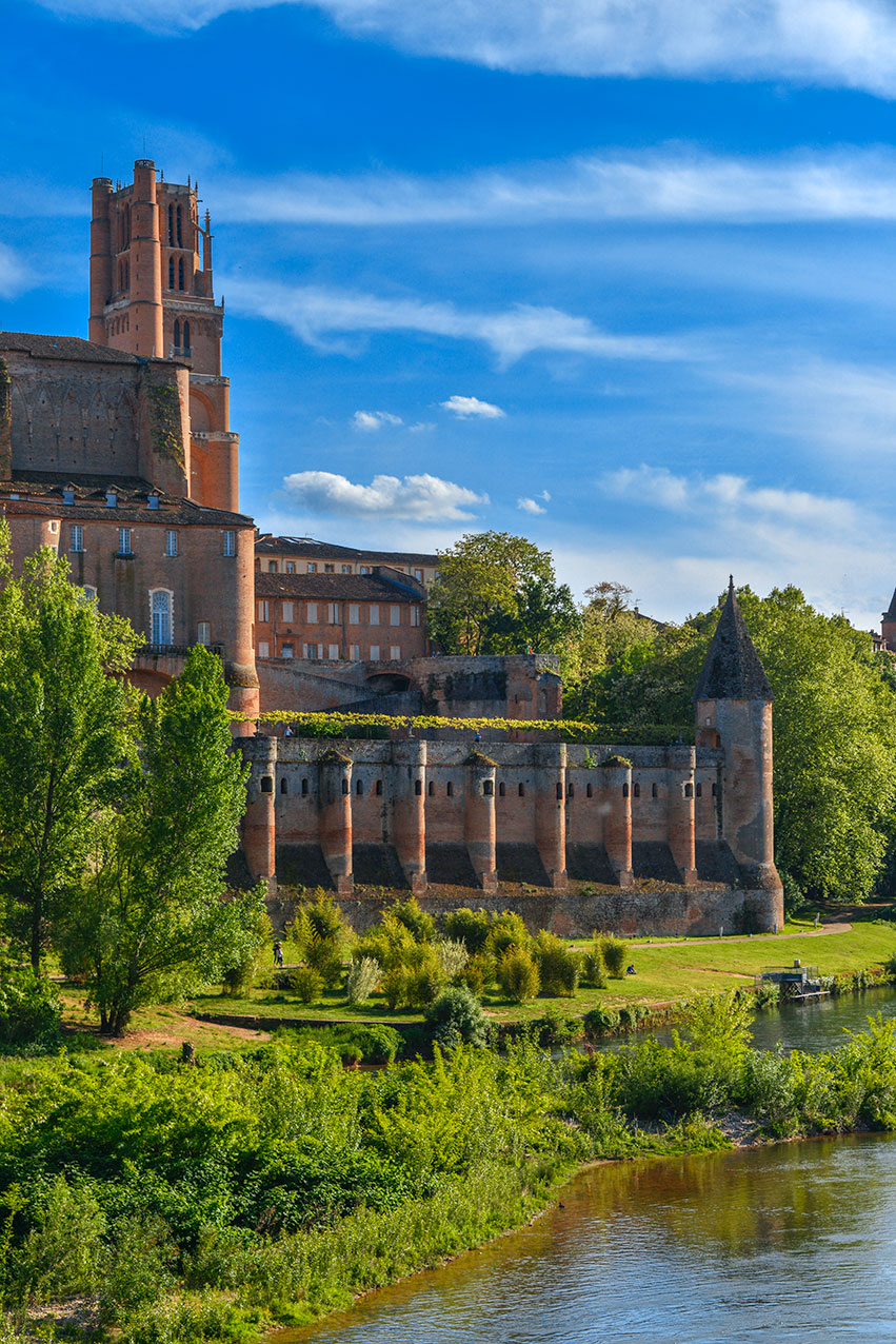 The cathedral, palace and river Tarn, Albi