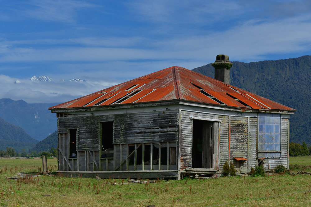 Abandoned home, Whataroa, New Zealand.