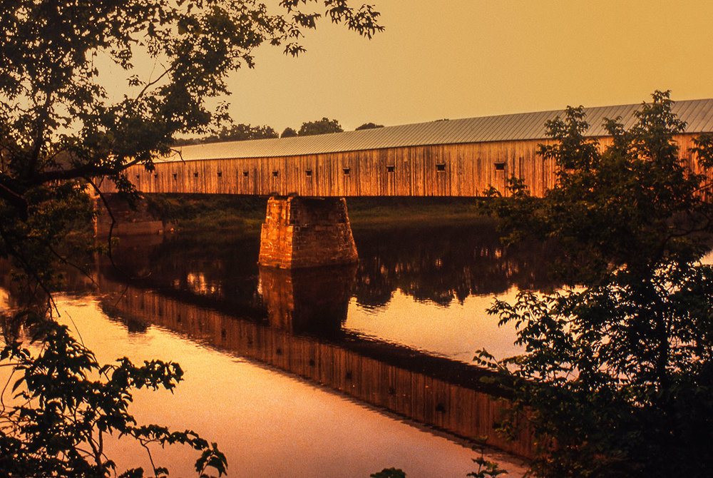 Cornish-Windsor covered bridge, New England USA
