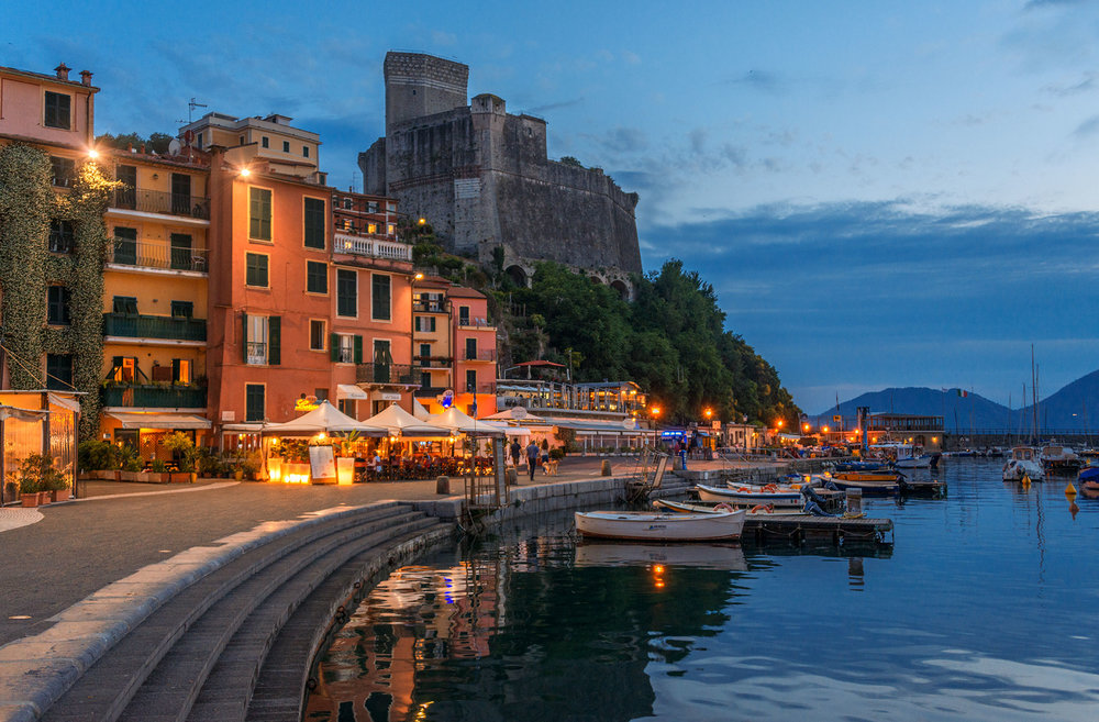 Lerici harbour at dusk