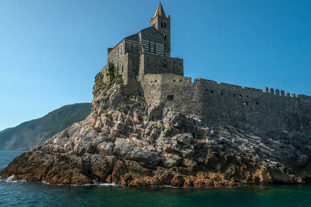 13th century St Peter's church at the entrance to Porto Venere