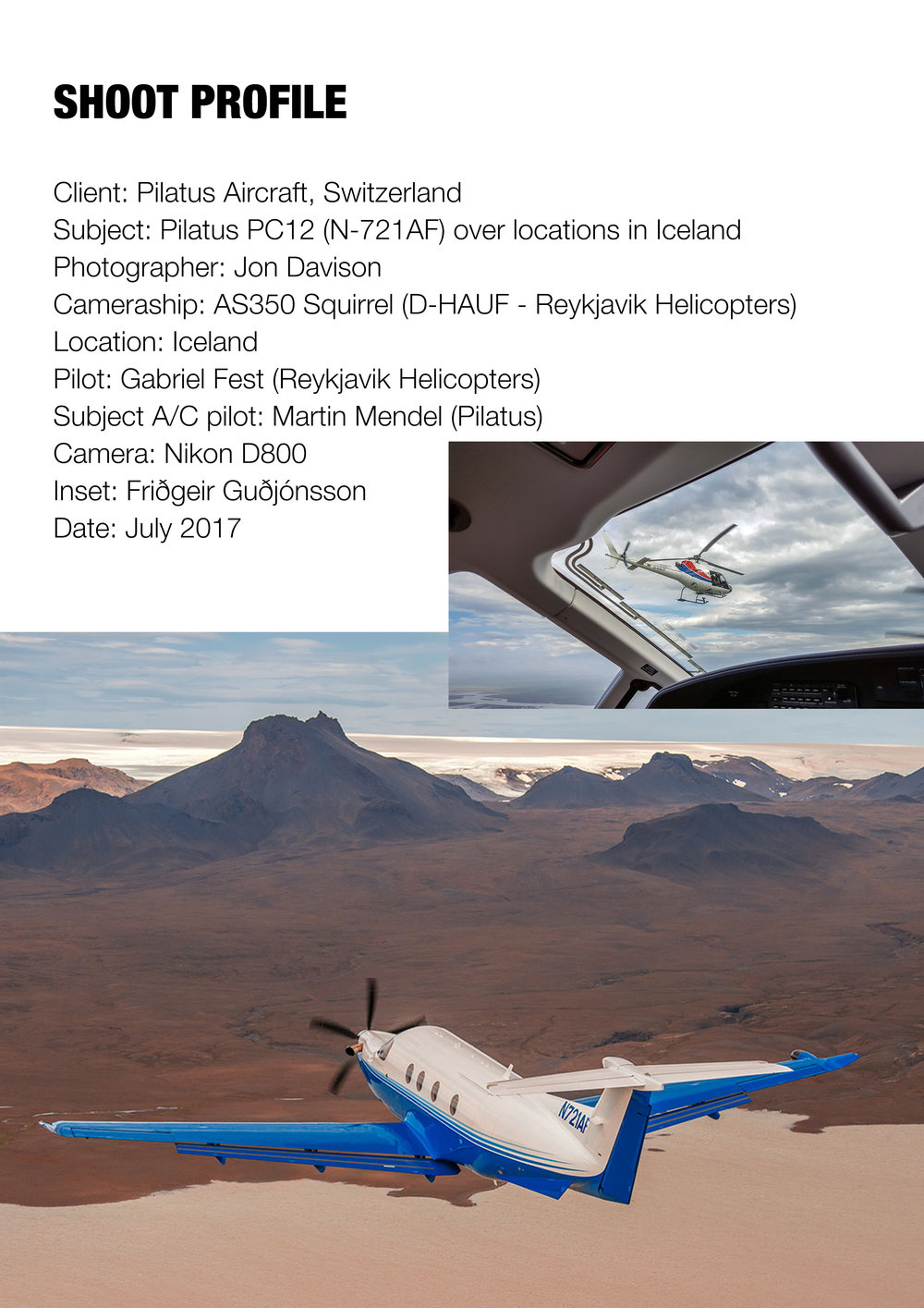 Pilatus PC12, Iceland
