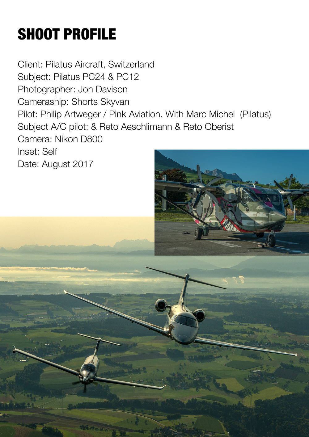 Pilatus PC12 and PC24, Switzerland