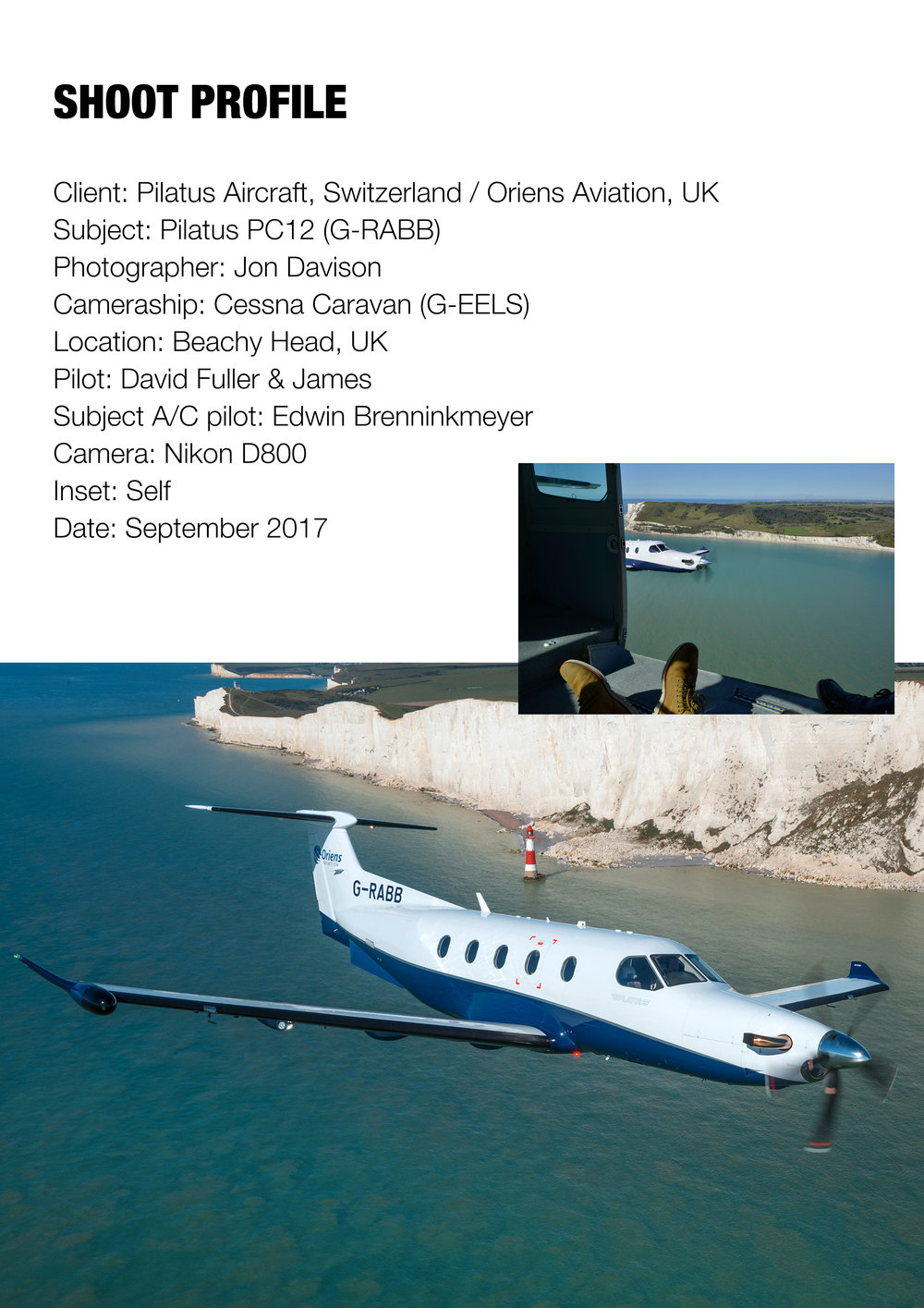 Pilatus PC12, Beachy Head, UK