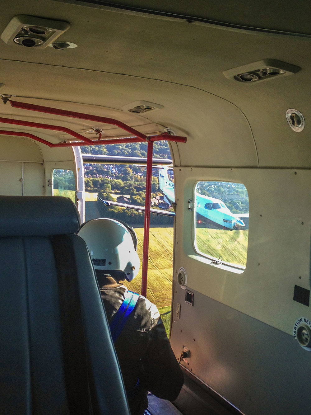 View of my point of view from the back of a Caravan, to a PC12