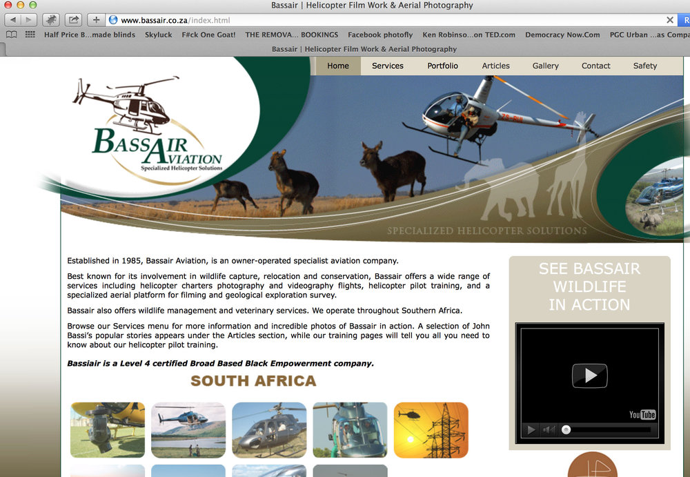 Bassair Helicopters in South Africa (website illustrations)