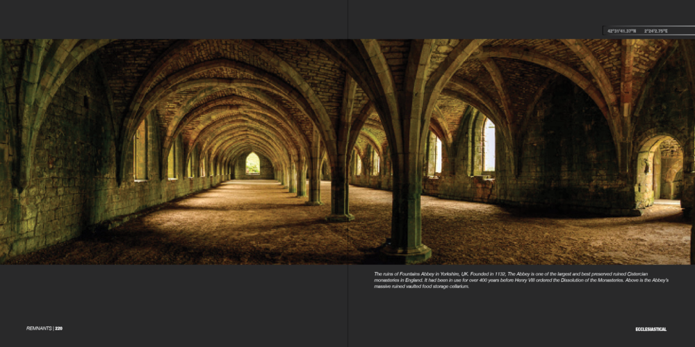 Ecclesiastical double page spread