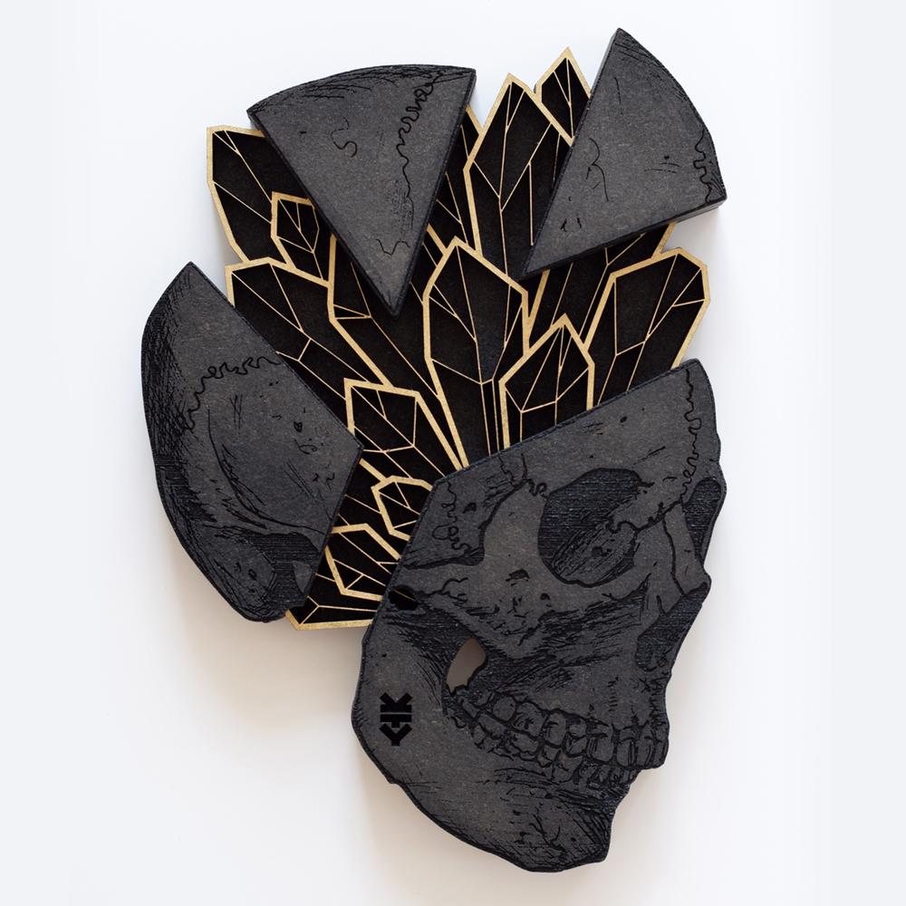 Crystal Skull / 23x16cm