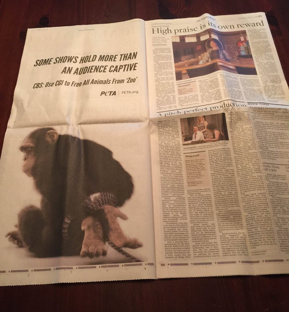 How it looked in the L.A. Times. It also ran in the New York Times and the Wall Street Journal. It looked very similar.
