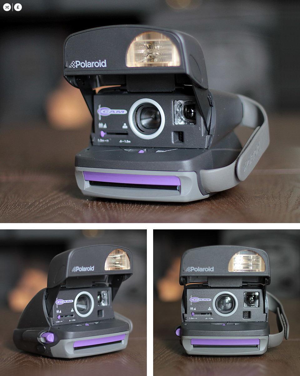 Polaroid Cool Cam - with Purple / Lilac trim. Available for SWAP | SHOP.