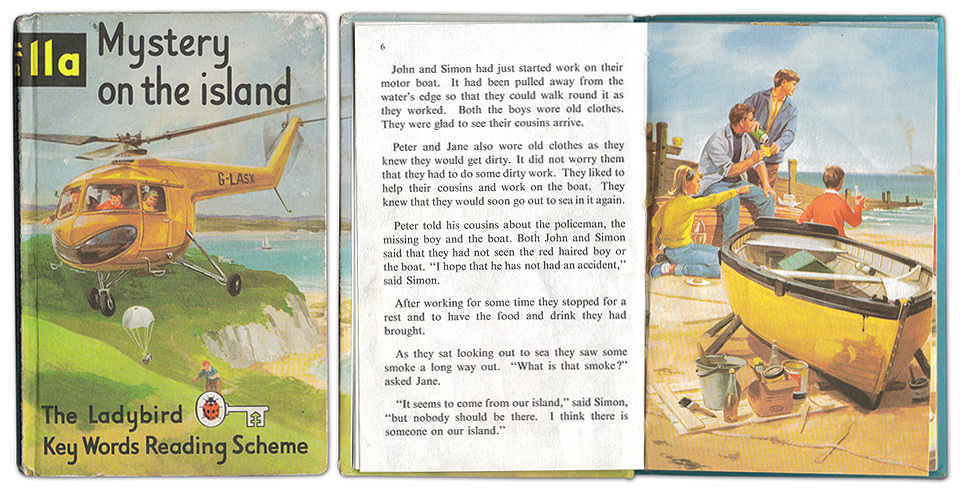 'Mystery on the Island' Ladybird book. A mysterious island, a helicopter, unusual happenings and black smoke… is this where the plot of LOST came from?