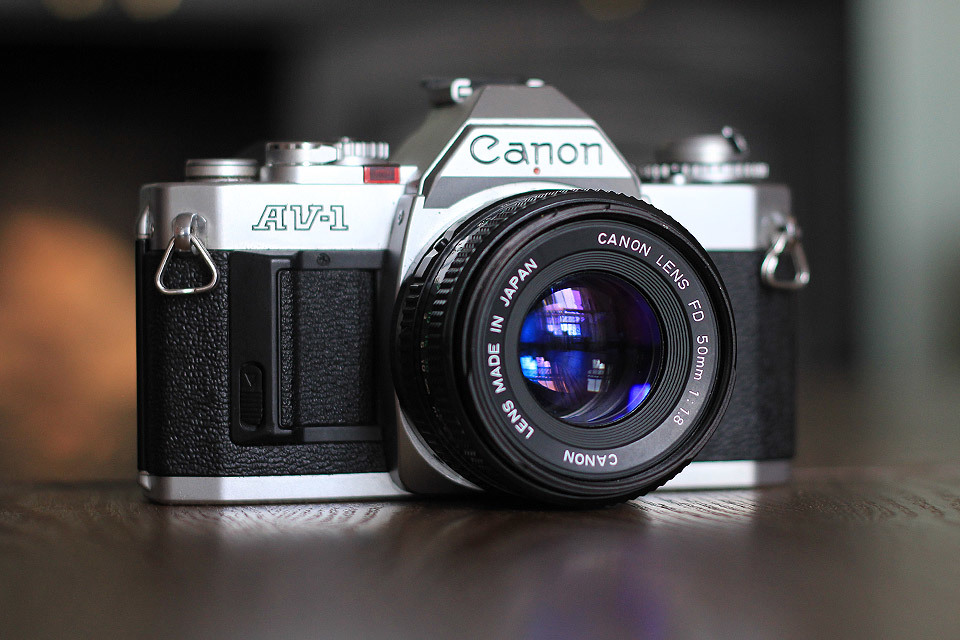 This beautiful Canon AV-1 SLR camera was in the window of one of my local charity shops. Although it was more expensive than I would normally pay for a thrifted item, it was in such perfect condition, I couldn't refuse.