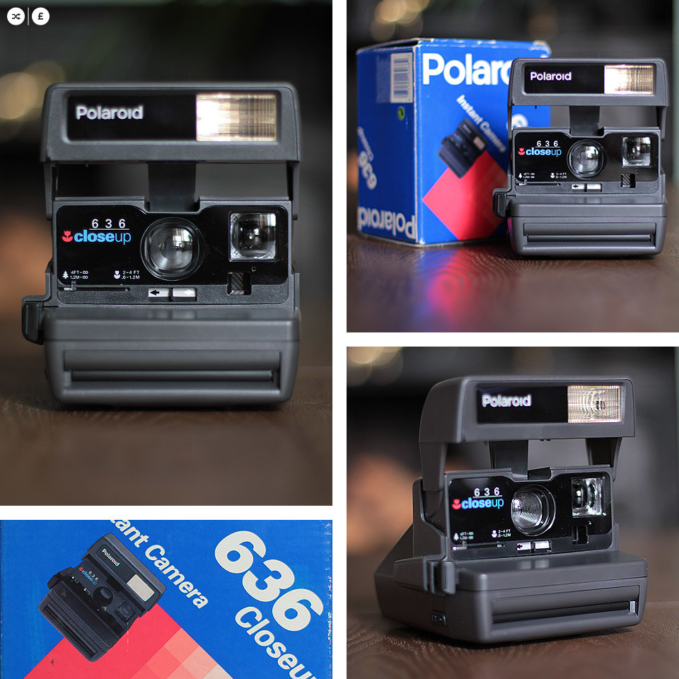 I had an amazing haul this weekend, going to 3 car boot sales - the sunny weather always bigs a bigger crowd and better bargains. I was amazed to find this boxed (and looks like unused) Polaroid 636 Close Up model. This was the first Polaroid I owned, and I have fond memories of it - before the days of digital cameras for instantly capturing a moment.