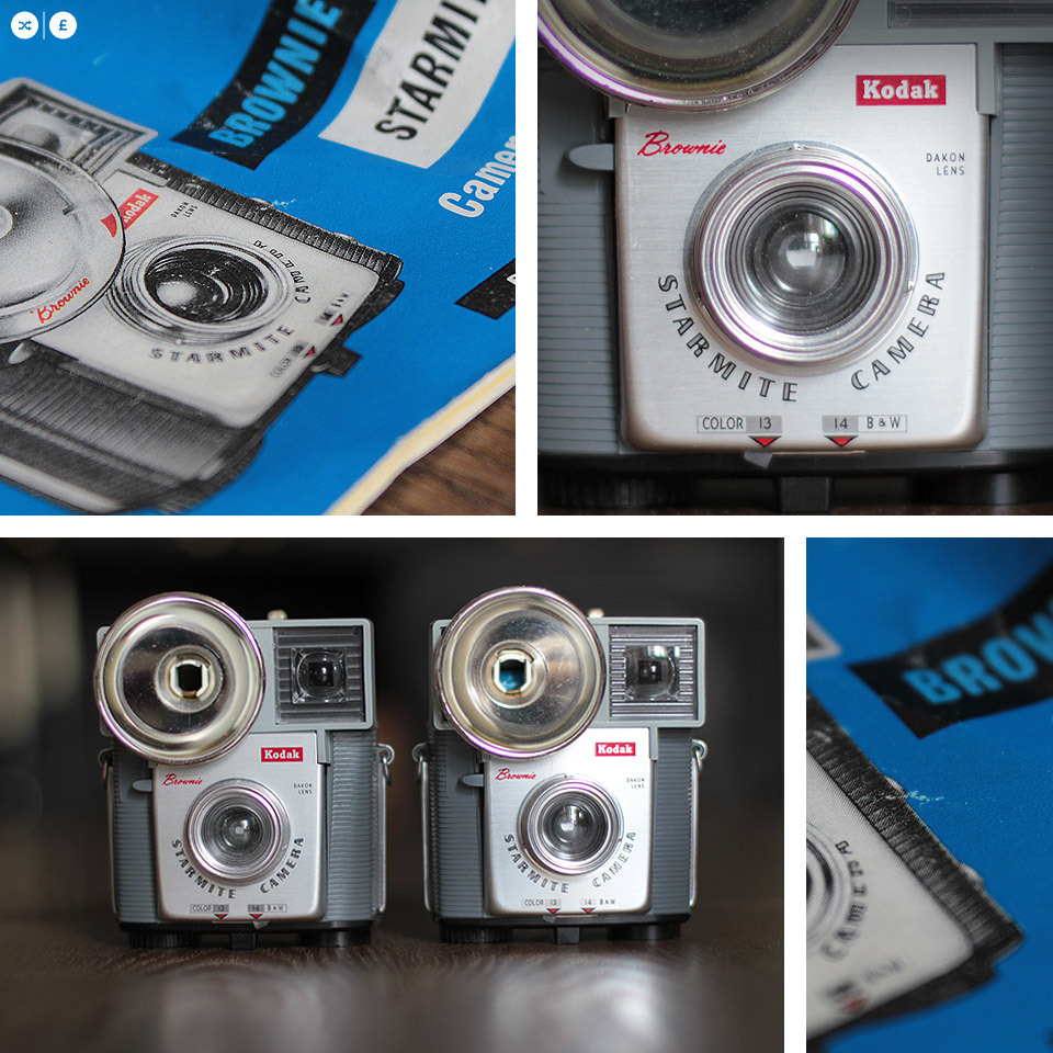 You wait for one camera, and 2 come along at once! I couldn't believe my luck today, after finding one Kodak Starmite in its case, at the bottom of a box, about 20 minutes later I found an identical one with it's original manual too.