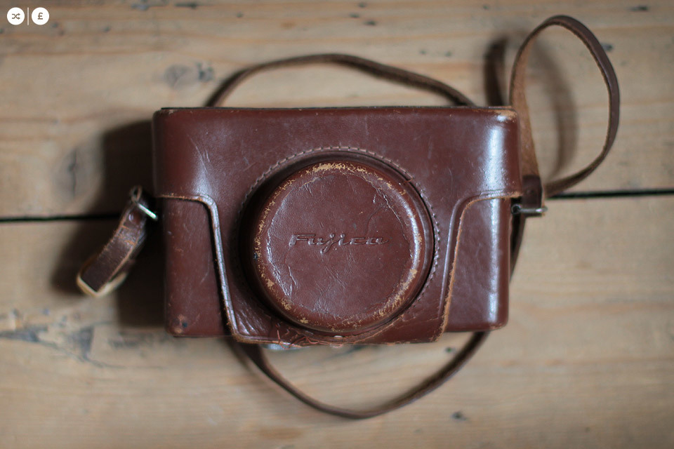 This lovely Fujica leather case with strap, might fit modern digital cameras - if you've got a camera that it would fit (possibly a fuji x100s), then make me an offer.