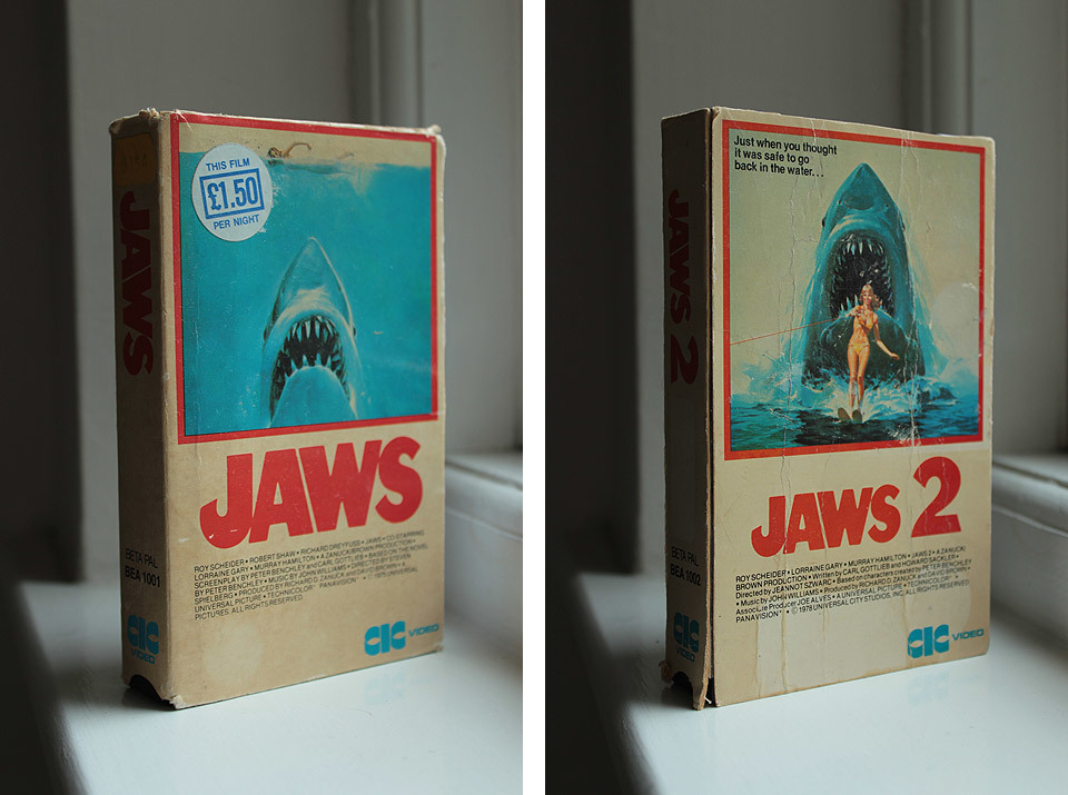 Jaws and Jaws 2 on Betamax tapes