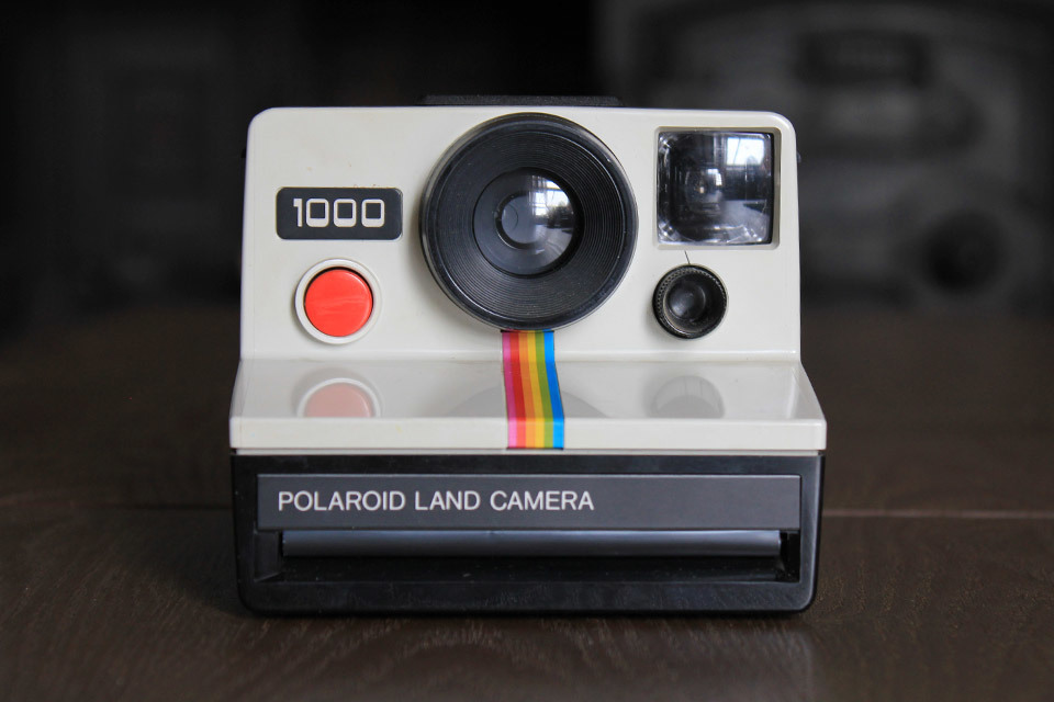 Polaroid 1000 (red button)