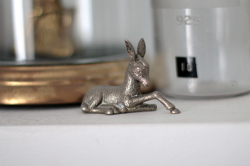 Silver Deer ornament