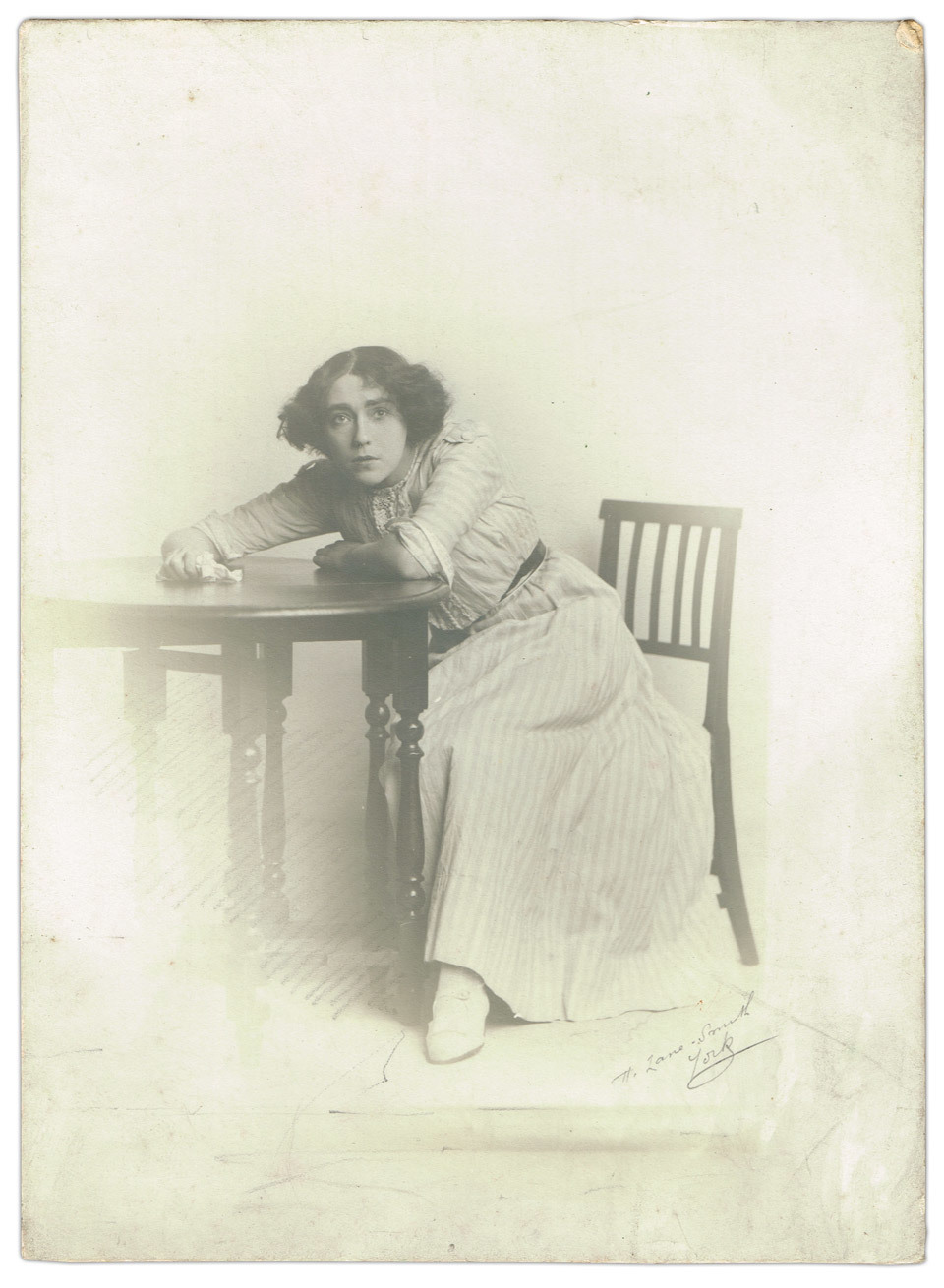 Possibly an actresses head shot / promotional photograph, Ms Lane Smith, York.