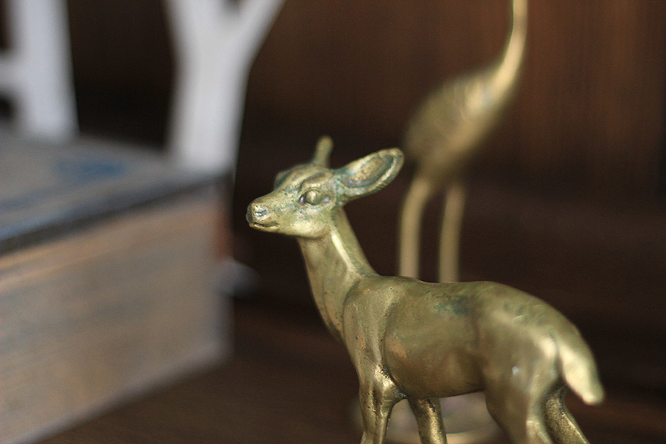 Brass Deer ornaments.