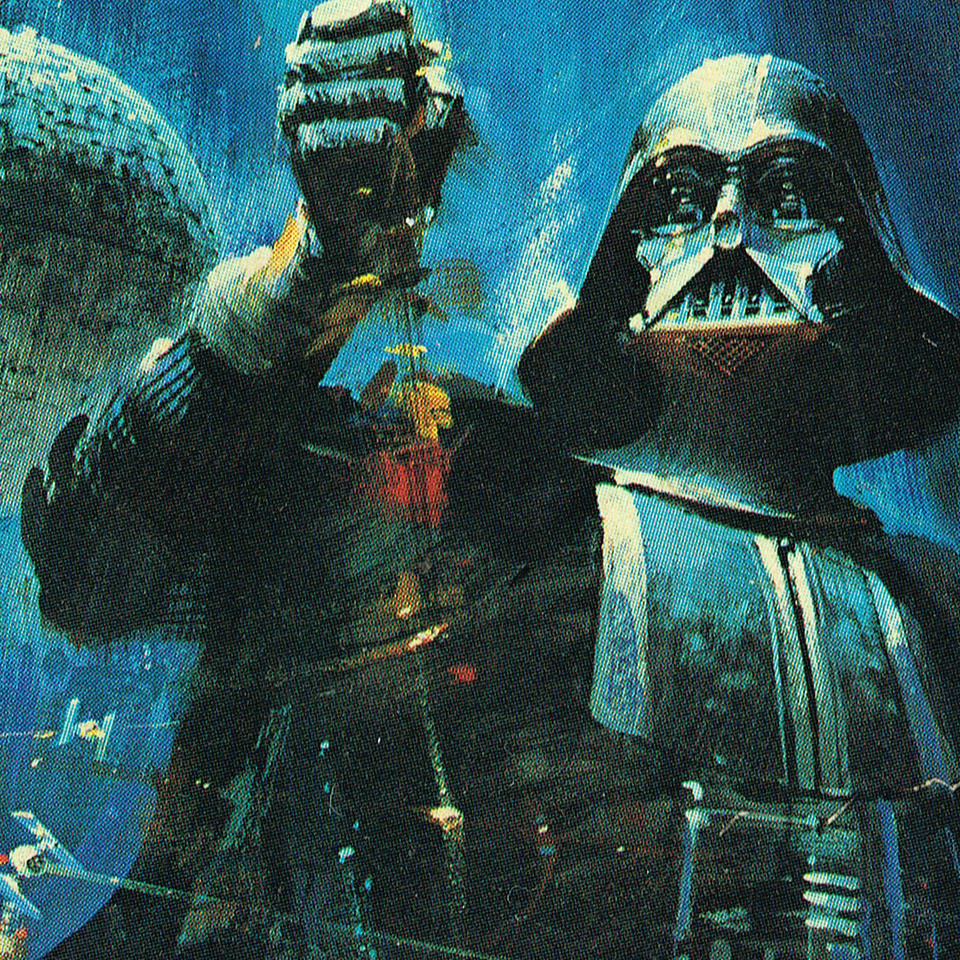 Detail from the Star Wars book front cover.