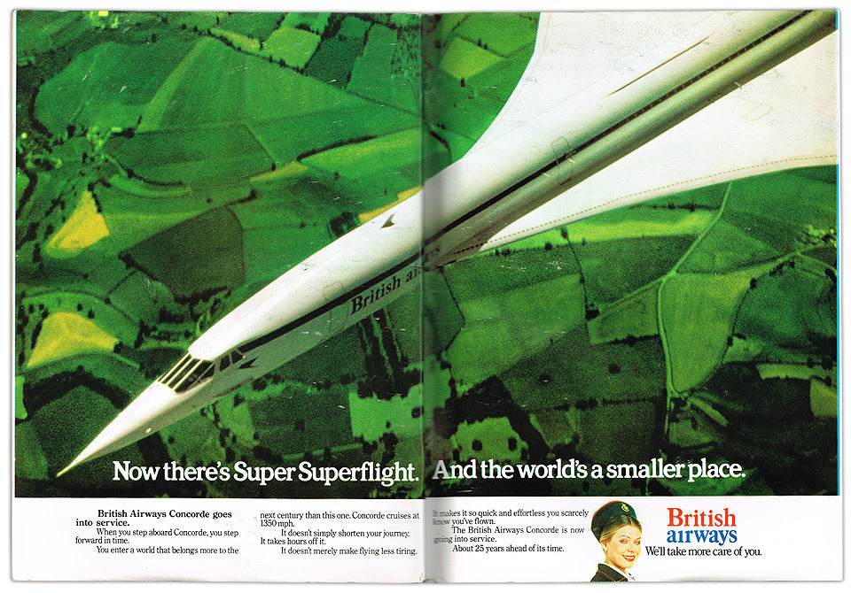 British Airways advert from Scientific American magazine.
