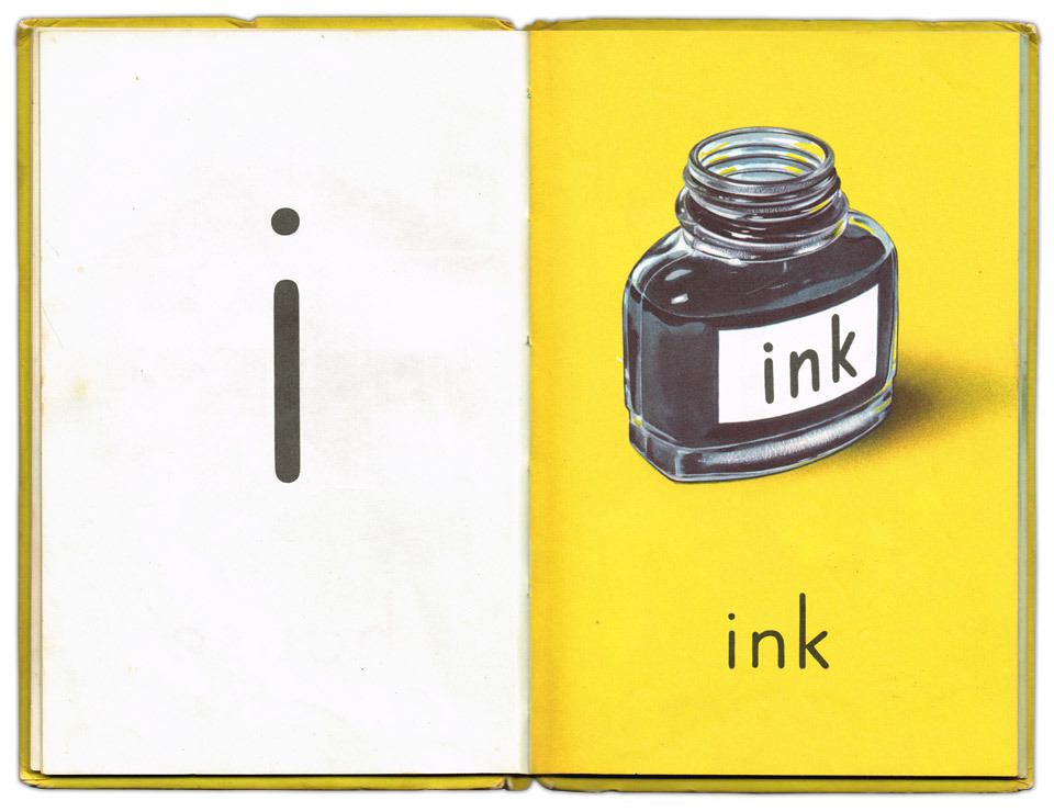 i is for ink. Ladybird ABC book.