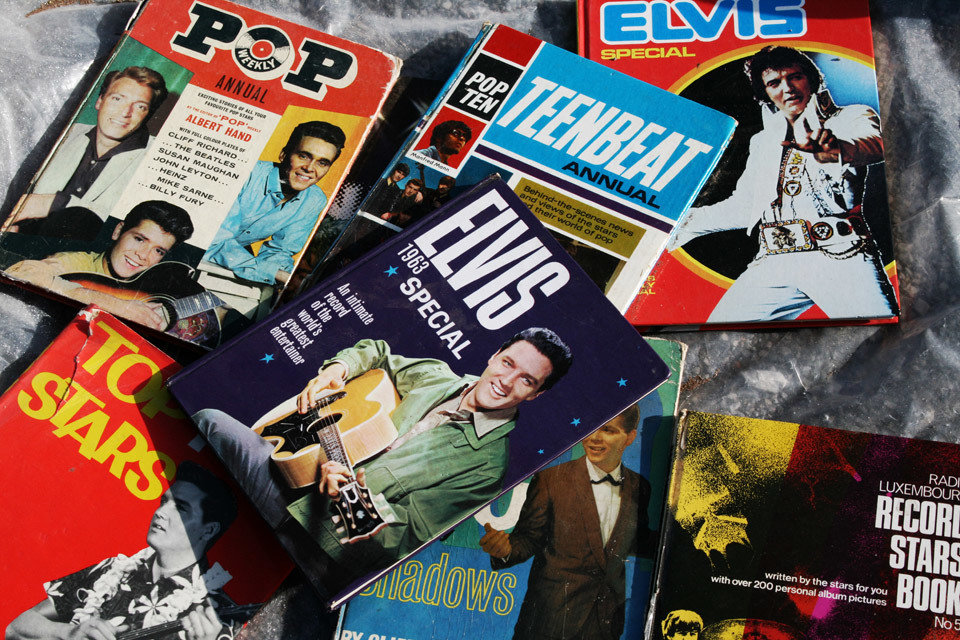 Things I Didn't Buy At The Car Boot Sale : 1960's pop annuals.