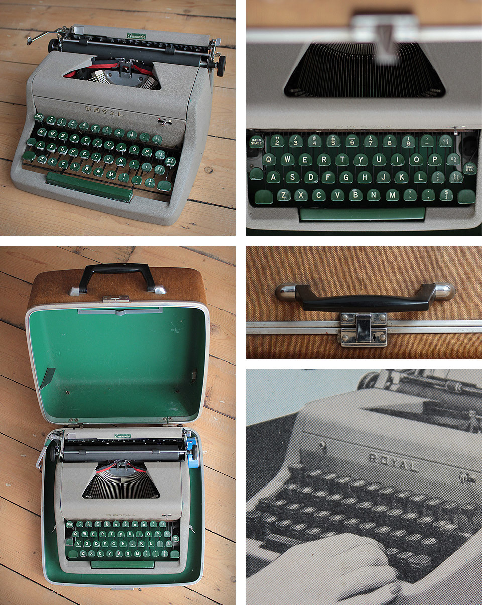 I bought this beautiful Royal Typewriter at the car boot sale a few weeks ago which I then part sold / part swapped with my neighbour Jenny of  House Knutsford  - which is now on sale in the Knutsford Antique centre in the  Attic Room . I will post the other find that I swapped and what I got in return!