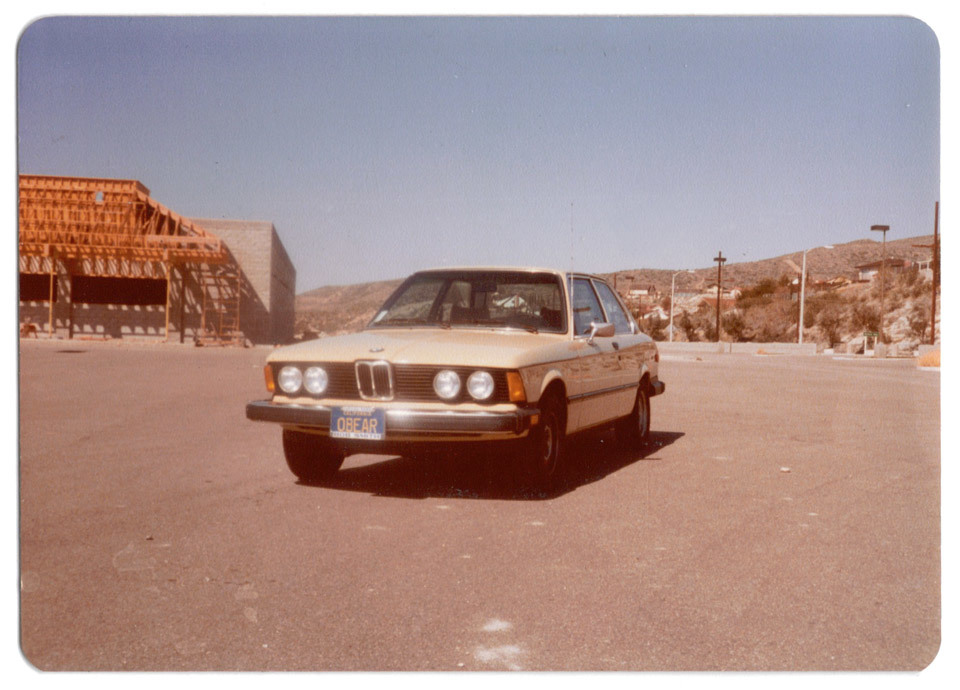 To celebrate buying a new car today, here is a vintage photograph of a BMW.