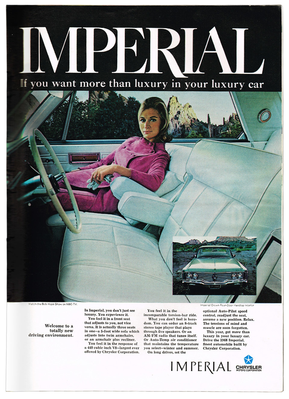 Scientific American magazine : Chrysler Imperial advert.