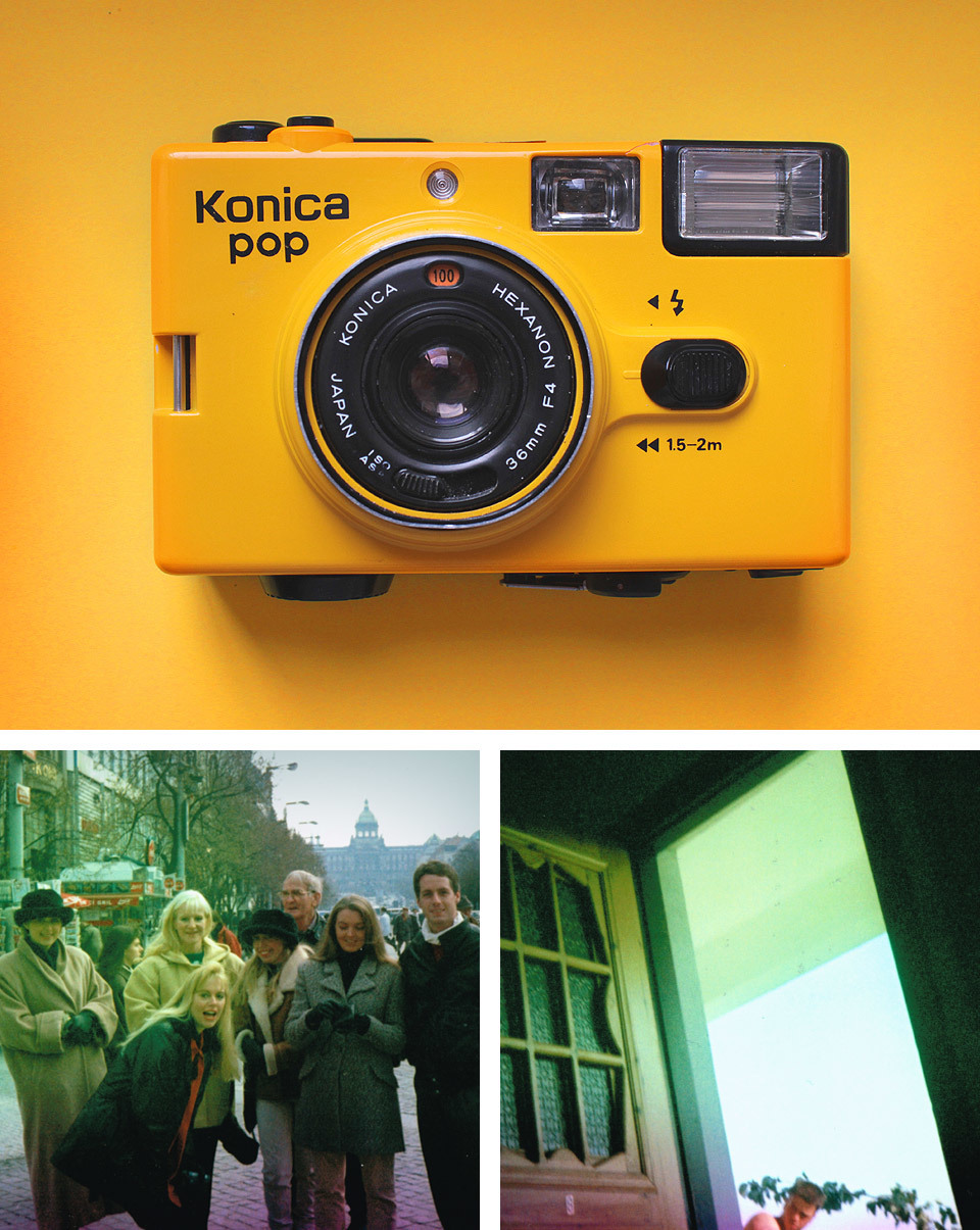 Last weekend I found this Konica Pop 35mm camera at the car boot sale and discovered it had a 'mystery film' left in it. Today I took it in to get it developed and got 2 photographs back. If you recognise any of the people in the photograph, then please get in contact and I can give you the prints!