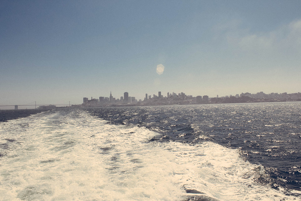 On the ferry to Sausalito, looking back at San Francisco bay.