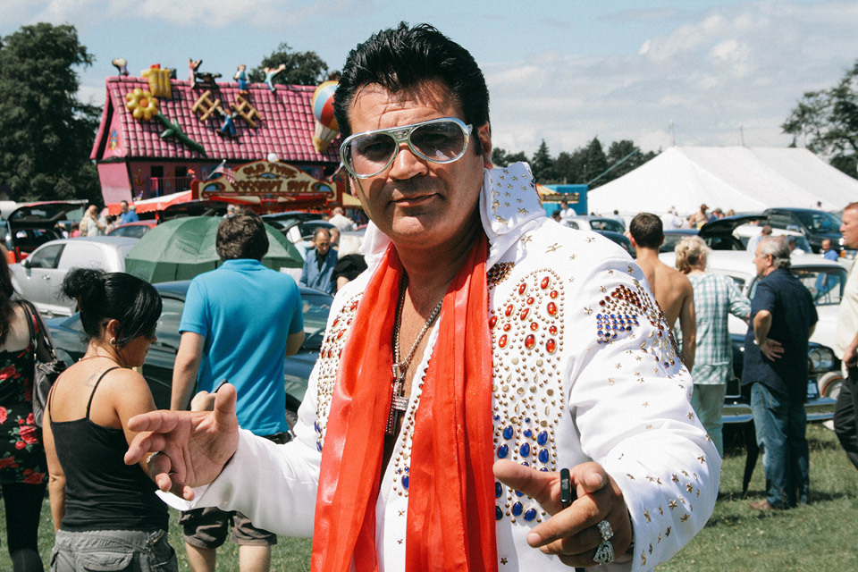 Elvis Preston (the Northern Elvis impersonator) - at Tatton Park Classic Car Show a few years ago.