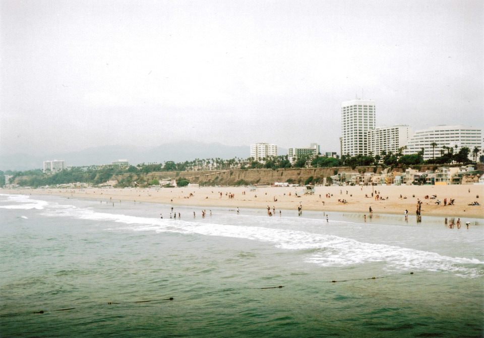 Santa Monica Pier, taken with my Kodak Retinette.